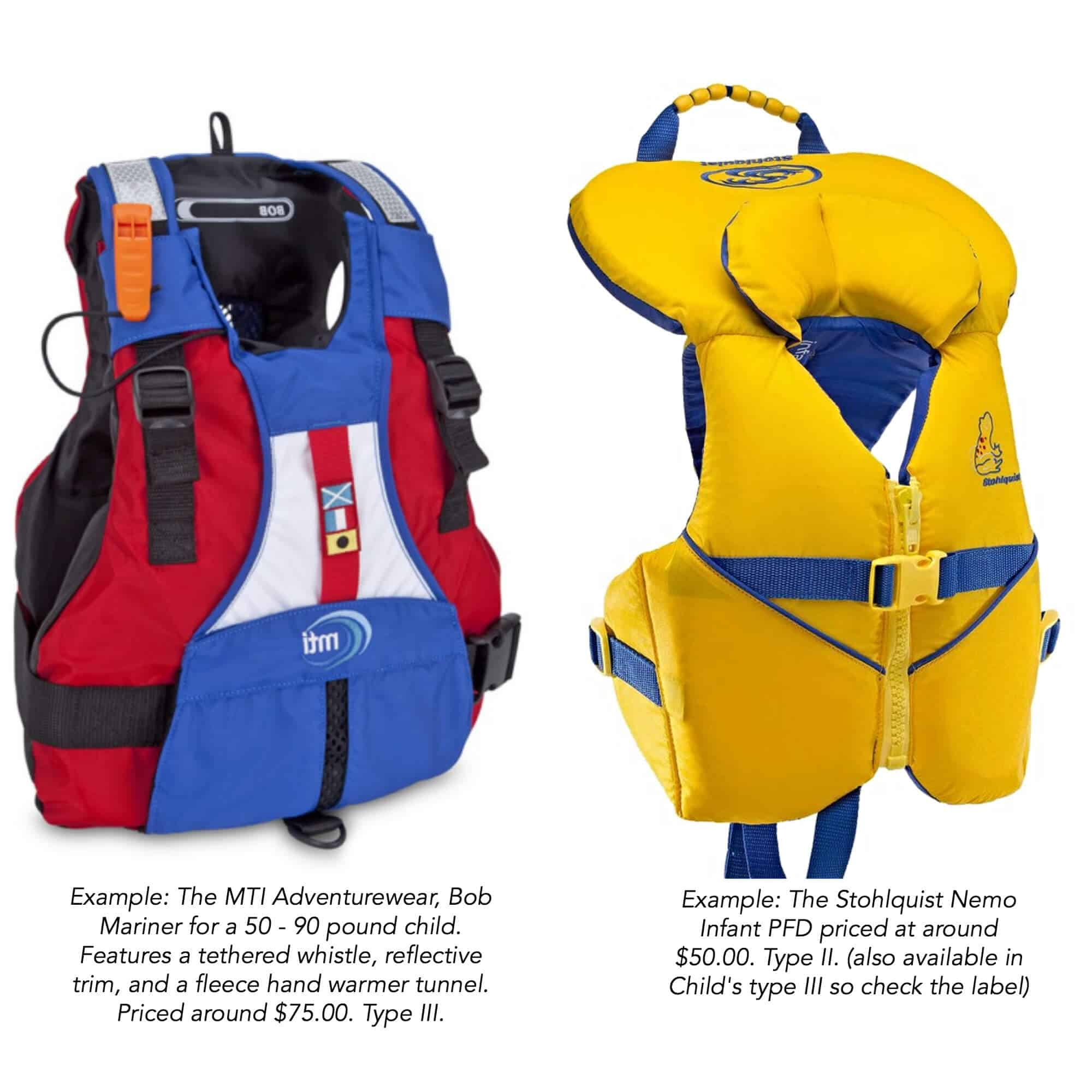 kids pfd life vest jackets