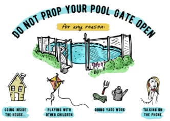 The Dangers Of Propping Open A Pool Fence Gate