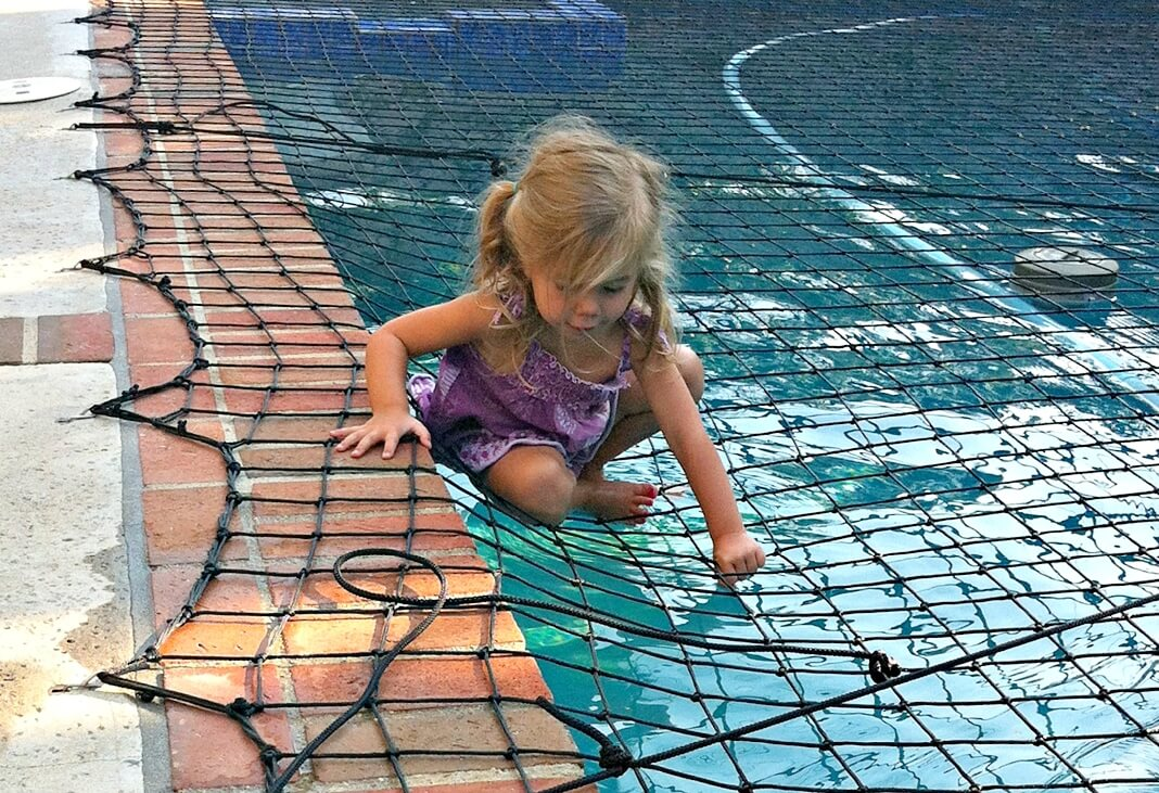 inground pool safety net