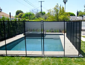 clear pool fence