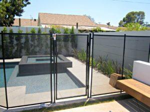 black mesh fence