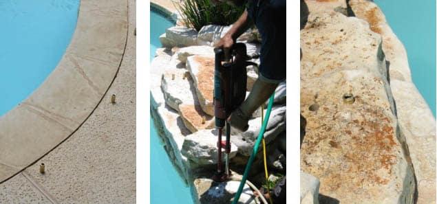 Pool net installation