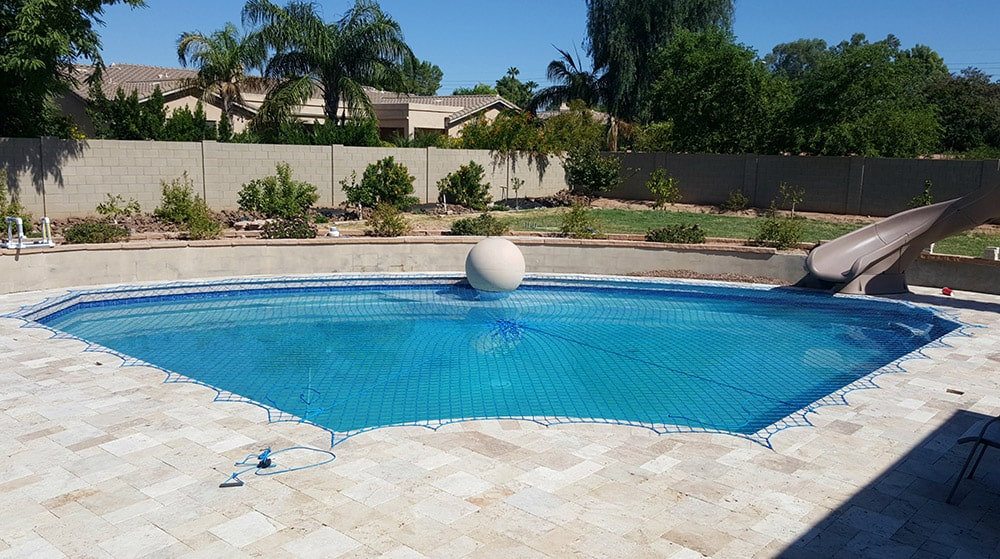 irregular pool safety cover