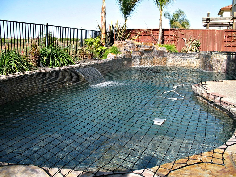 water feature pool safety cover