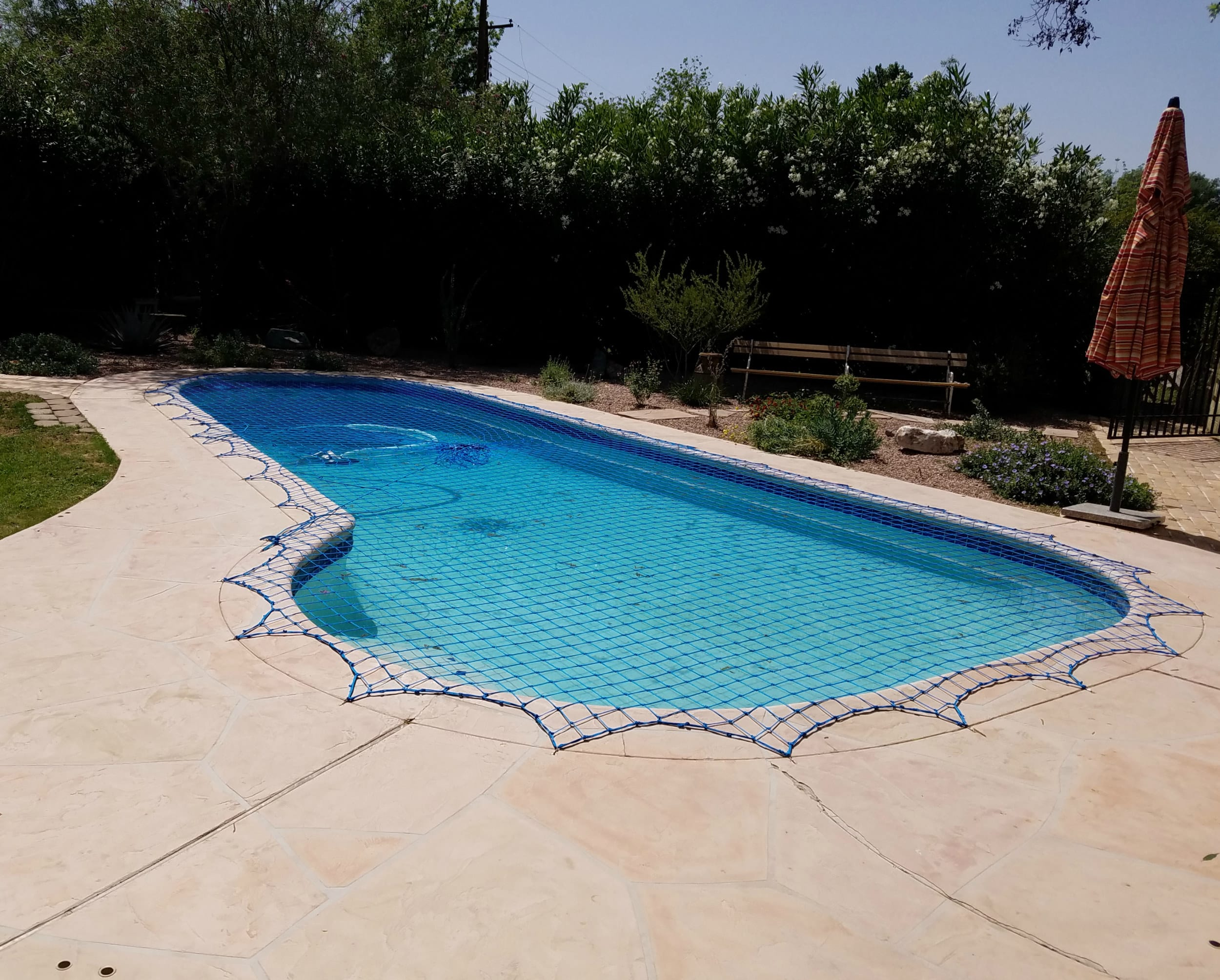 l shape pool cover